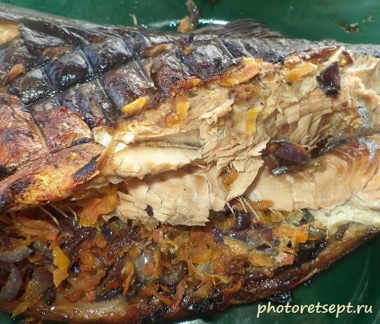 Горбуша на мангале