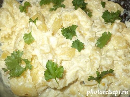 вкусный салат из кабачка