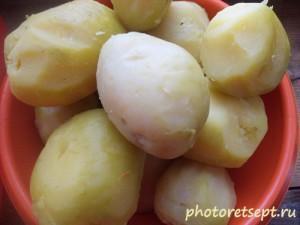 1 вареный картофель