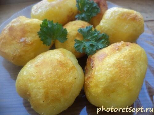 картошка вареная обжаренная