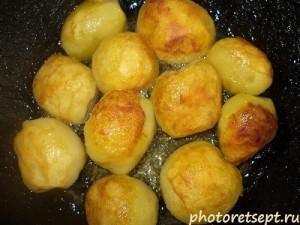круглая жареная картошка