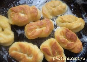 обжарить печенье с двух сторон