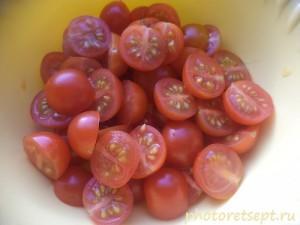 помидорки черри нарезанные