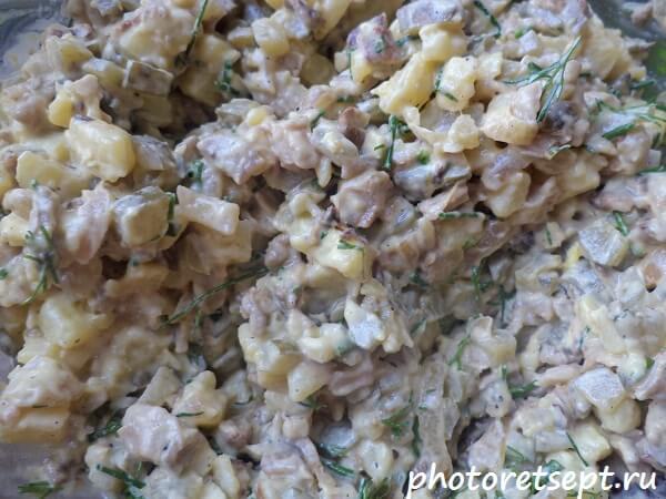 вешенки картошка и огурцы