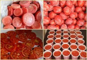 как замораживать помидоры