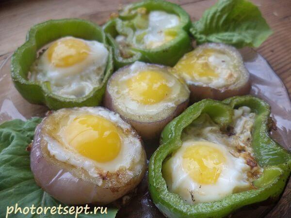 яйца жареные в перце