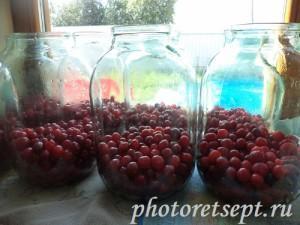 3 стакана вишни в банку