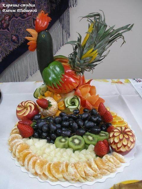 салат украшение петух