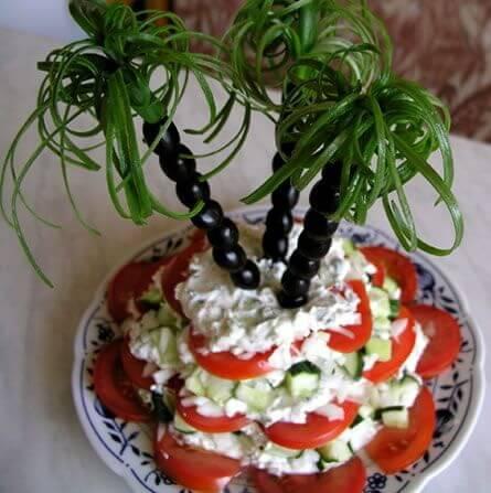 как-украсить-салат-пальмы-из-оливок-и-зелени