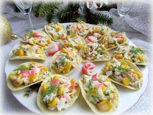 салат на чипсах