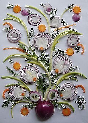 украшение салата лук 3