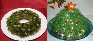 украшение салата укропом