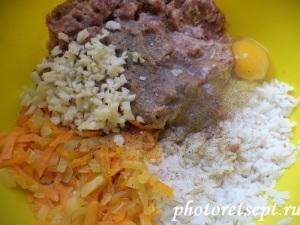 фарш для перцев из мяса и риса