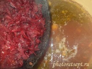 свеклу в суп с фасолью