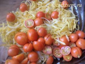 добавить в салат черри