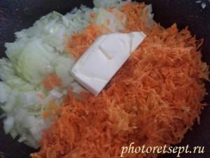 лук морковь и сливочное масло