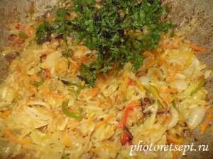 зелень в салат из патиссонов