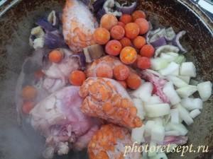 кролик с овощами