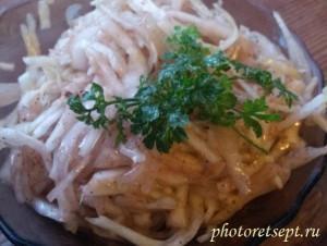 салат из капусты с бальзамическим уксусом