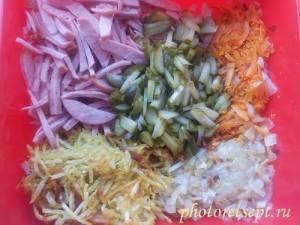 ингредиенты для деревенского салата
