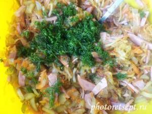 зелень  в  деревенский салат