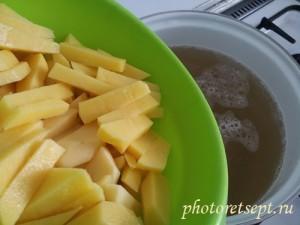 картофель в суп с фрикадельками