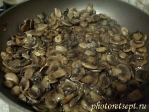 грибы шампиньоны жареные