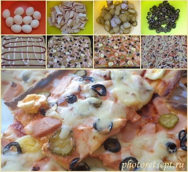 домашняя пицца рецепт с маслинами