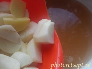 Картофель в гороховый суп