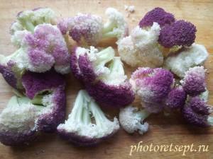 разделать цветную капусту на соцветия
