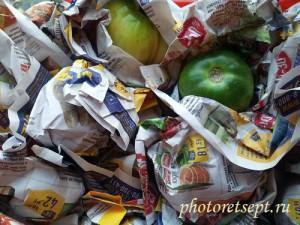 как сохранить помидоры свежими в газете