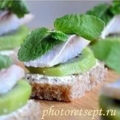 канапе из сельди с киви рецепт