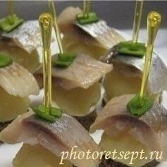 канапе с селедкой и картошкой рецепт с фото