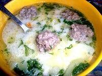 Суп из плавленого сыра с фрикадельками