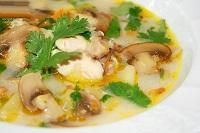 Суп из плавленого сыра с грибами