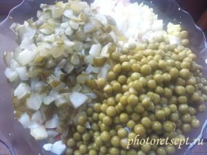 оливье горошек