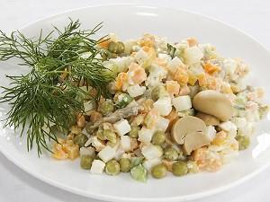 оливье рецепт с грибами
