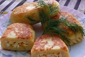 картофельные зразы с яйцом