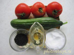 салаты к шашлыку ингредиенты