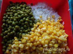 ингредиенты для цветного риса