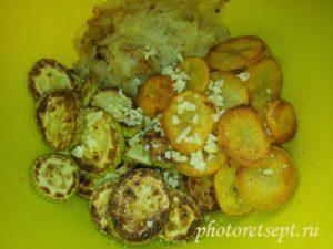 кабачки лук чеснок салат