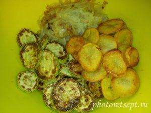 кабачки лук и картофель в салат
