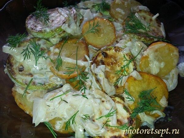 салат из кабачков с картофелем