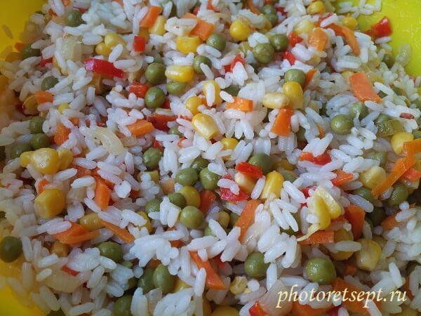 цветной рис рецепт с фото