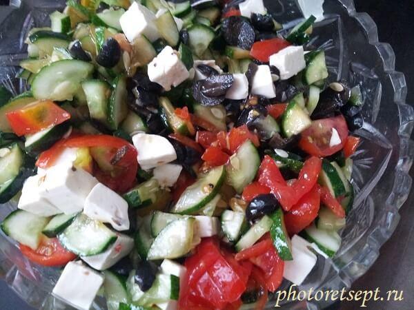 греческий салат рецепт с фетаксой