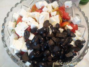 маслины фетакса овощи