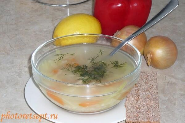 рецепт супа из рыбы с крупой