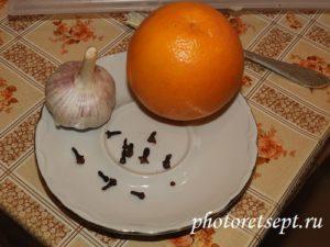 апельсин гвоздика чеснок