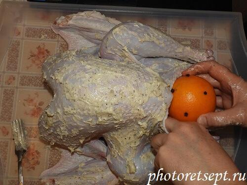 апельсином фаршируем индейку