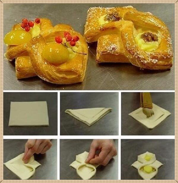 красивые булочки из теста